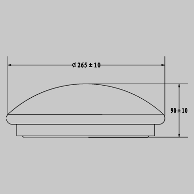 PLAIN LED 12W Ceiling Fitting product image