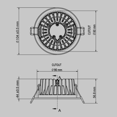 LED SPLASH WH Downlighter product image