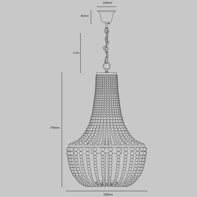 ASTER SML BK Chandelier product image