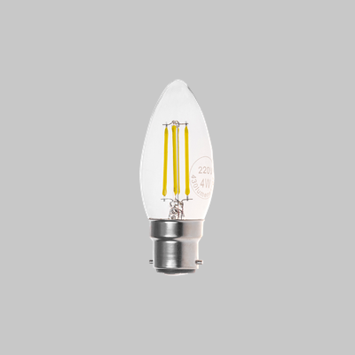 LED FIL CAN CLEAR 4W BC DL