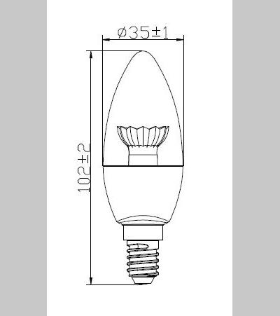 LED CAN 2.5W E14 product image