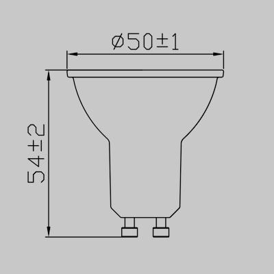 LED DIM GU10 5.7W WW Globe product image