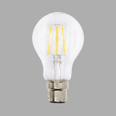 LED A60 FIL CLEAR 6W BC DL