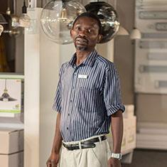Alfred Ngcobo at Zebbies Amanzimtoti